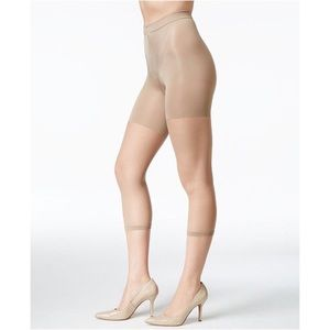 Spanx Footless Bodyshaping Pantyhose Nude